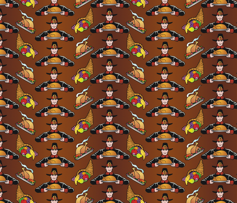 thanksgiving pattern fabric by hannafate on Spoonflower - custom fabric