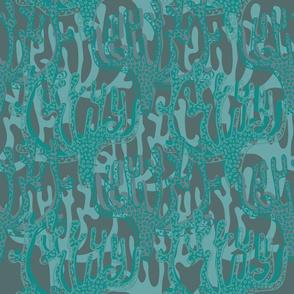 Coral - dark blue