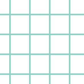 Grid white and mint large