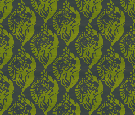 NautilusDamaskNavy fabric by beckarahn on Spoonflower - custom fabric