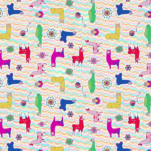 Colorful Llamas