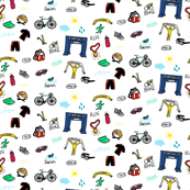 Triathlon Doodles