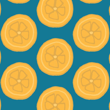 Tropical Oranges fabric by heatherdoucette on Spoonflower - custom fabric