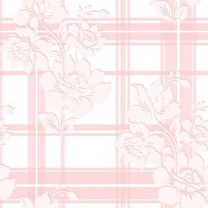 Lotte Tartan Floral in peony pink