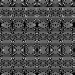 Charcoal Diamonds & Dots