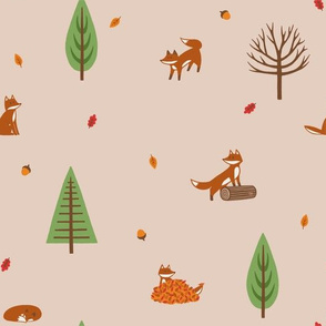 Autumn Foxes