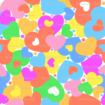Happy Hearts softer colors