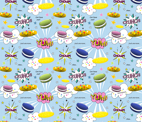 Pop Art Cookie Crunchdown!  fabric by heather_anderson on Spoonflower - custom fabric