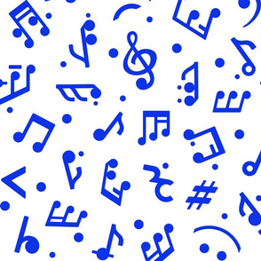 Music Notes in Navy medium scale