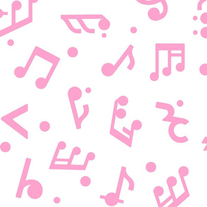 Music Notes in Pink