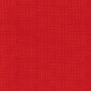 Faux Linen - Red