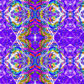 Blue and Purple Kaleidoscope Planet