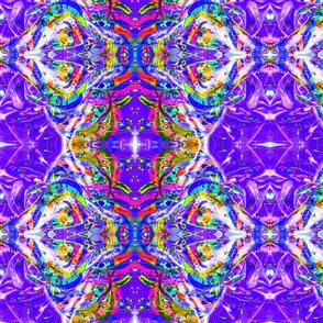 Blue and Purple Kaleidoscope Planet