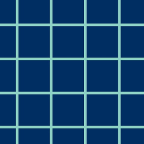 Grid navy and mint large