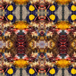 Red Flower Kaleidoscope Photo