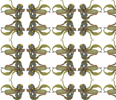 Krake_gro_ fabric by ruthjohanna on Spoonflower - custom fabric