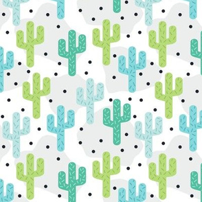 Green Turquoise Blue Cactus