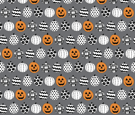 Halloween Pumpkins fabric by lisa_kubenez on Spoonflower - custom fabric