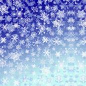 Snowflakes on Navy