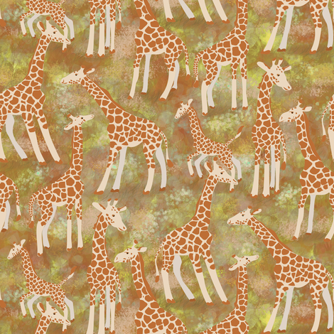 Giraffic Park, Darker fabric by eclectic_house on Spoonflower - custom fabric