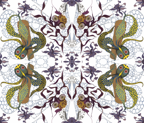 Cool_Creatures_of_the_Sea_2 fabric by ruthjohanna on Spoonflower - custom fabric