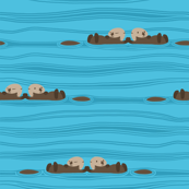 Sleeping Sea Otters