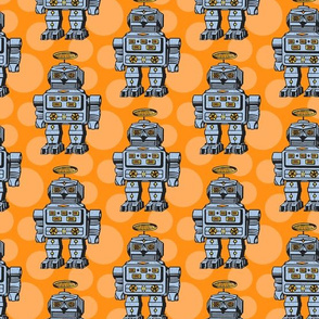 Blue orange robots