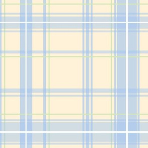 Lotte Tartan in buttercup yellow