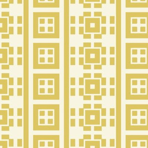 Yellow Squares on White