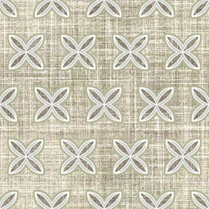 Faux linen motif in taupe