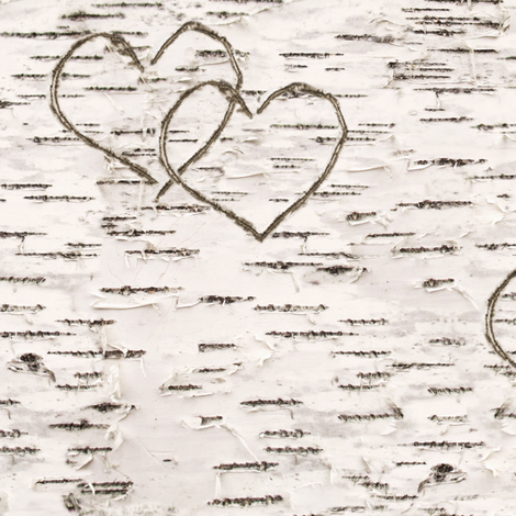Love, Carved in Birch fabric by willowlanetextiles on Spoonflower - custom fabric