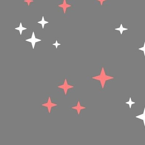 stars_mini_in_coral_and_white_on_grey