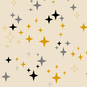 stars_medium2_in_mustard_grey_and_black_on_cream