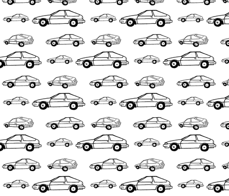 Color Me cars - coupe fabric by drapestudio on Spoonflower - custom fabric