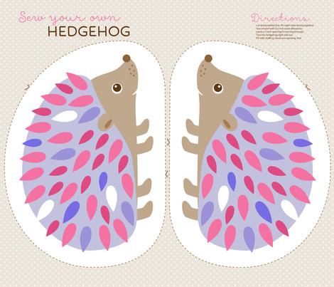 Hedgehog cut and sew fabric by heleenvanbuul on Spoonflower - custom fabric
