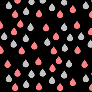 drops_in_coral_and_grey_on_black