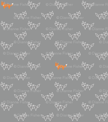 Tangram foxes - grey and orange