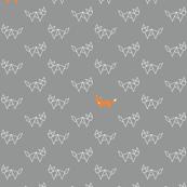 Tangram foxes - grey and orange