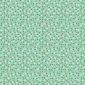 holiday wrapping paper (mint)