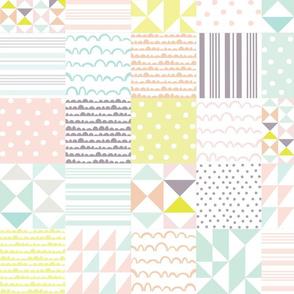 Pastel Cheater Quilt - Pastels