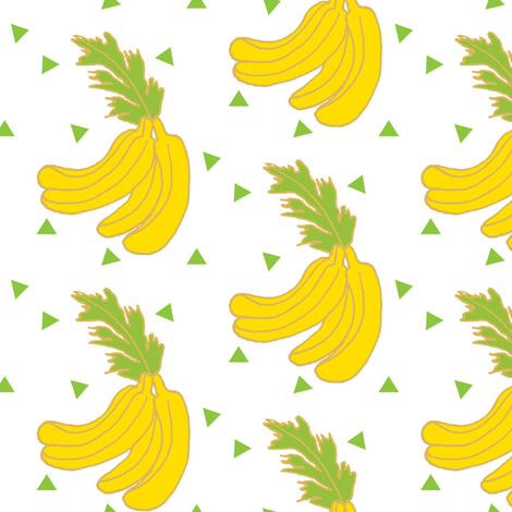 Nana Banana fabric by heatherdoucette on Spoonflower - custom fabric