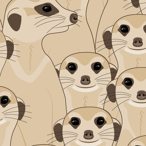 Suricata - Meerkat: Mocha fabric by mia_valdez on Spoonflower - custom fabric