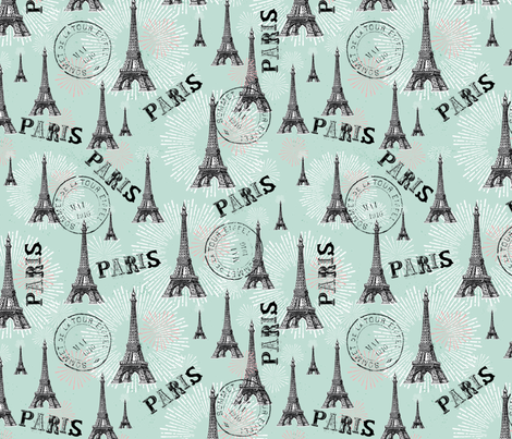 Paris is always a good idea fabric by cynthiafrenette on Spoonflower - custom fabric