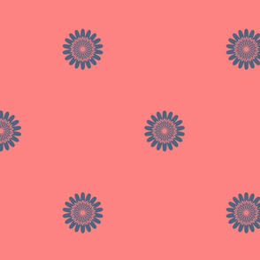 Coral Floral paper