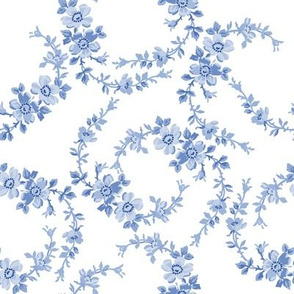 Lilla Wildflowers in monotone blueberry