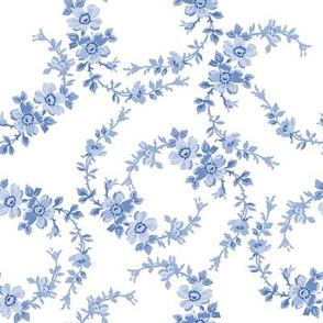 Lilla Wildflowers in monotone blueberry