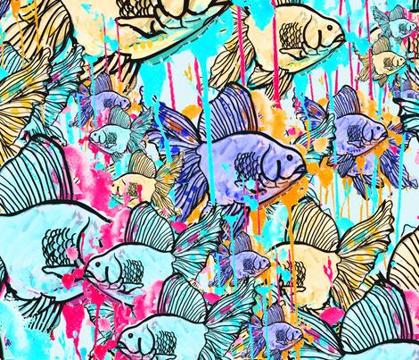 Rainbow Fish fabric by studio-polly on Spoonflower - custom fabric