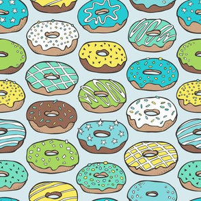 Donuts in Blue