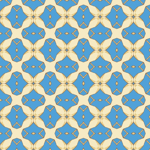 Blue and Cream Lattice