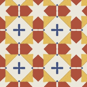 Tile Blocks in Red, Yellow and White